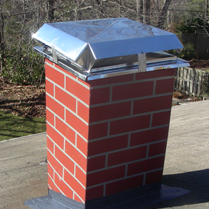 Roof Replacement - Metal Chimney Surround