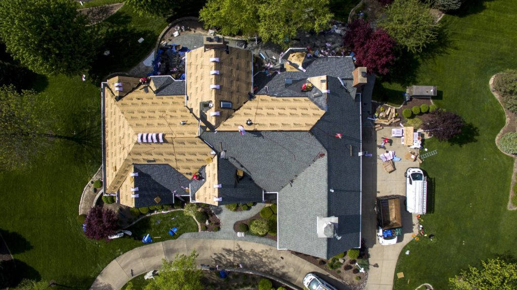 Resources - Overhead picture of house roof with new underlament
