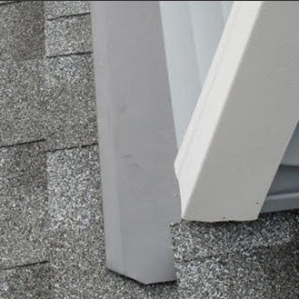 Roof Replacement - Roof to Wall Flashing