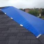 Roof Repair - picture of a tarp repair